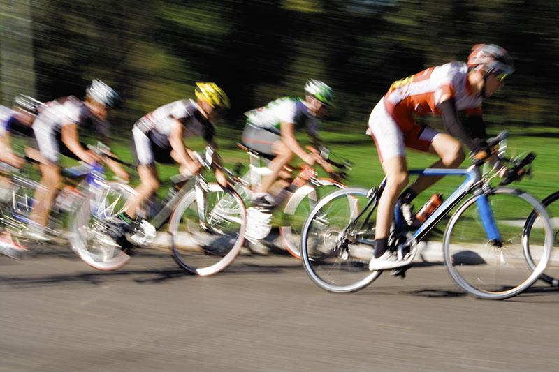 Racing Cyslist - Blurred Motion